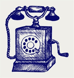 Old telephone vector image vector image