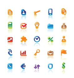 Perfect icons for business metaphor vector image vector image