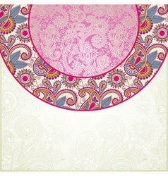 Pink floral ornamental pattern vector