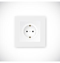 Realistic socket template vector