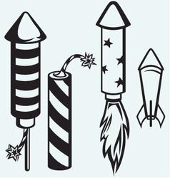 Rocket fireworks vector