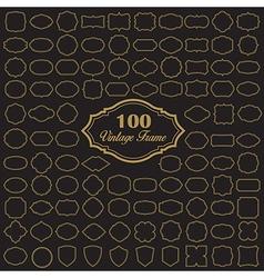 Set of 100 blank vintage frame vector image vector image