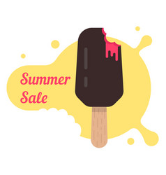 Summer sale with popsicle vector