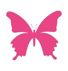 Butterfly silhouette pink isolated icon vector