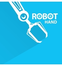 Robotic arm symbol robot hand vector