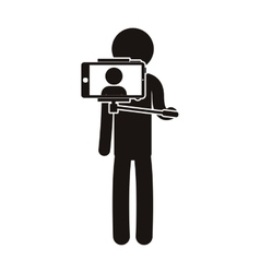Person taking a selfie vector