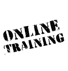 Online training stamp vector image
