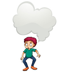 Man with blank idea cloud vector