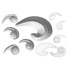 Carved decor 1 vector