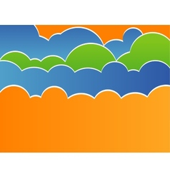 Stylized sky with clouds vector