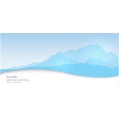 Winter banner with mont blanc silhouette vector