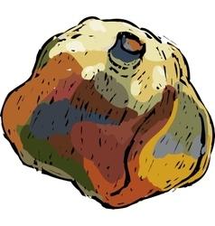 Decorative pomgranate vector image