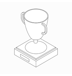 Trophy cup winner icon isometric 3d style vector