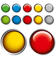 coloured glass buttons vector image