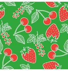 Juicy berries seamless pattern vector