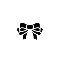 bow icon black sign on vector image