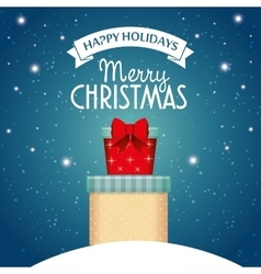 card happy holidays and merry christmas with two vector image vector image
