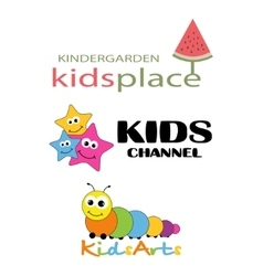 Children places logo template vector