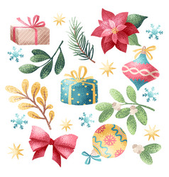 Christmas holiday elements vector