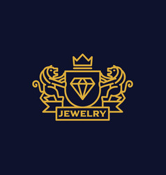 Coat of arms jewelry vector