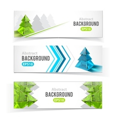 Colorful set of banners with Christmas tree vector image vector image