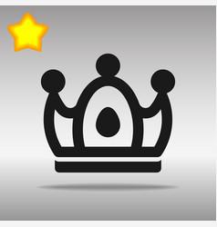 Crown black icon button logo symbol concept vector