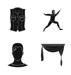 Curtains cornices textiles and other web icon in vector