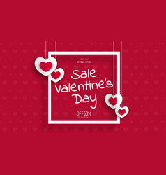 Design of a banner for sale on valentines day vector