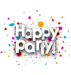 Happy party paper card vector