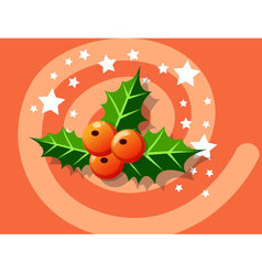 Holly berry icon christmas vector image vector image