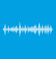Musical pulse icon white vector