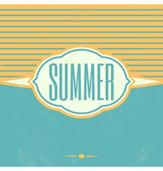 Retro Summer Vintage Background vector image vector image