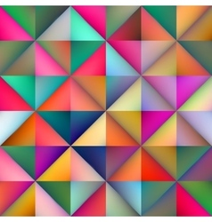 Seamless multicolor gradient triangle vector