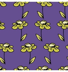 seamless texture background with camomile vector image
