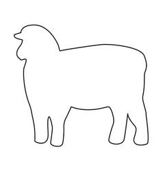 sheep silhouette black color path icon vector image vector image