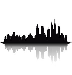 skyline city on white background vector image