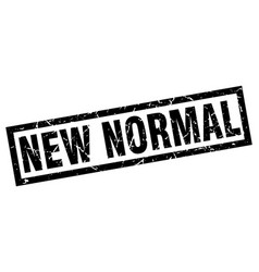 Square grunge black new normal stamp vector