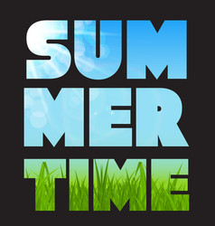 summer time abstract background vector image