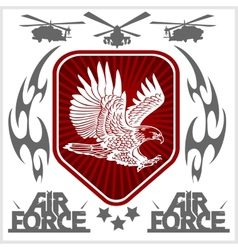 Us air force - military design vector