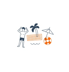 Vacation by the sea vector