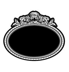 Vintage engraved floral frame vector