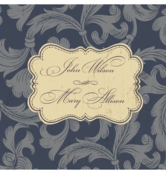 wedding card design vintage vector image