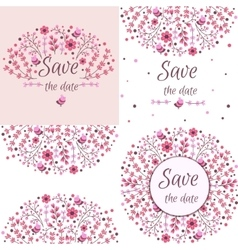 Set of floral frames cute collection of vector