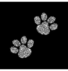 Silver paws  luxury vector