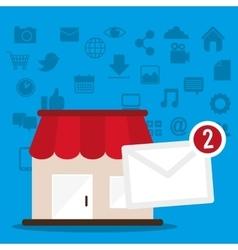 Marketing online shop message receiving vector