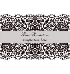 Lace invitation card with delicate ornament vector