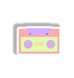 In paper sticker style retro vector