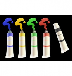Tubes of paint vector