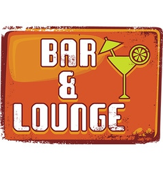 Bar and lounge background vector