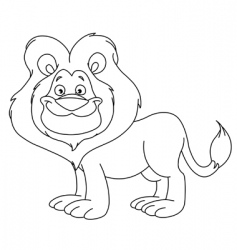 Outlined lion vector